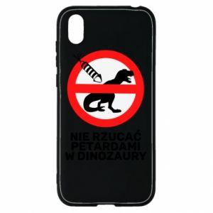 Etui na Huawei Y5 2019 Nie rzucać petardami w dinozaury