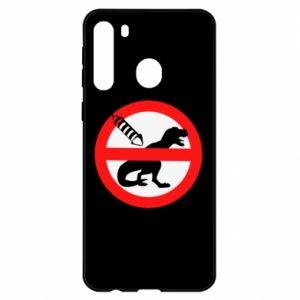 Etui na Samsung A21 Nie rzucać petardami w dinozaury