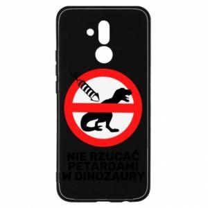 Etui na Huawei Mate 20 Lite Nie rzucać petardami w dinozaury