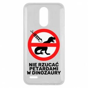 Etui na Lg K10 2017 Nie rzucać petardami w dinozaury