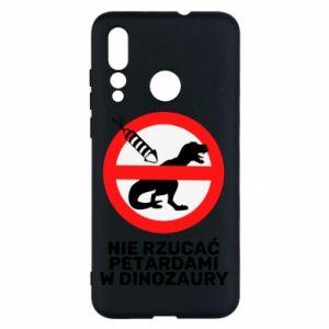Etui na Huawei Nova 4 Nie rzucać petardami w dinozaury