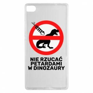 Etui na Huawei P8 Nie rzucać petardami w dinozaury