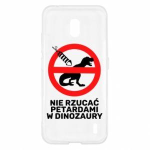 Etui na Nokia 2.2 Nie rzucać petardami w dinozaury