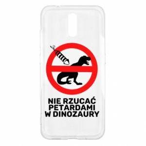 Etui na Nokia 2.3 Nie rzucać petardami w dinozaury
