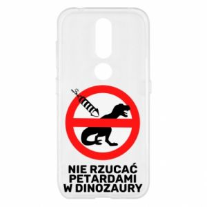 Etui na Nokia 4.2 Nie rzucać petardami w dinozaury