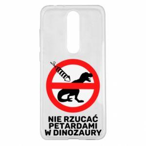 Etui na Nokia 5.1 Plus Nie rzucać petardami w dinozaury