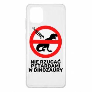 Etui na Samsung Note 10 Lite Nie rzucać petardami w dinozaury