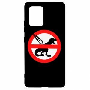 Etui na Samsung S10 Lite Nie rzucać petardami w dinozaury