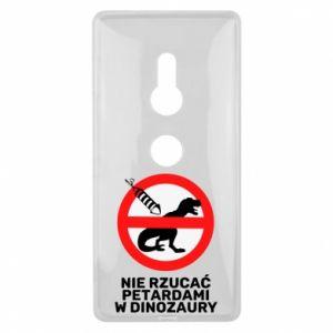 Etui na Sony Xperia XZ2 Nie rzucać petardami w dinozaury
