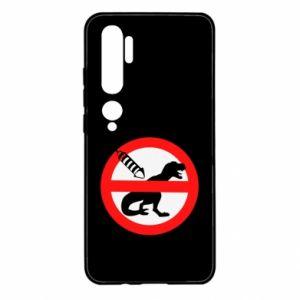 Etui na Xiaomi Mi Note 10 Nie rzucać petardami w dinozaury