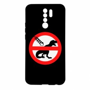 Etui na Xiaomi Redmi 9 Nie rzucać petardami w dinozaury