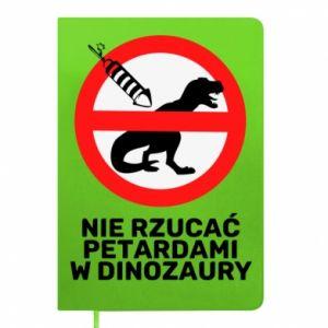 Notes Nie rzucać petardami w dinozaury