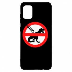 Etui na Samsung A31 Nie rzucać petardami w dinozaury