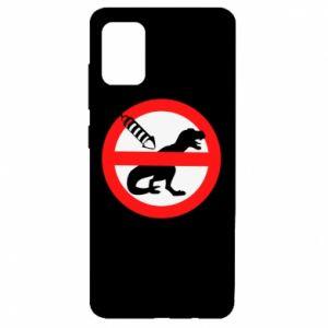 Etui na Samsung A51 Nie rzucać petardami w dinozaury