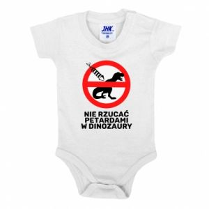 Body dziecięce Nie rzucać petardami w dinozaury
