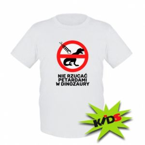 Kids T-shirt Don't throw firecrackers at dinosaurs