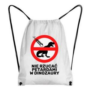 Plecak-worek Nie rzucać petardami w dinozaury