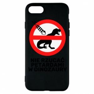 Etui na iPhone 7 Nie rzucać petardami w dinozaury