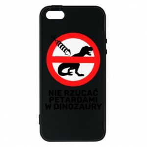 Etui na iPhone 5/5S/SE Nie rzucać petardami w dinozaury