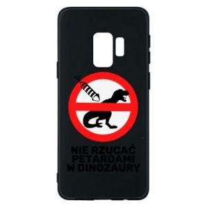 Etui na Samsung S9 Nie rzucać petardami w dinozaury