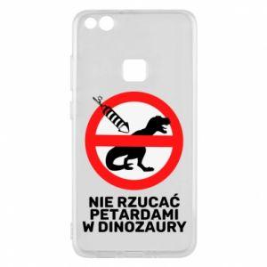 Etui na Huawei P10 Lite Nie rzucać petardami w dinozaury