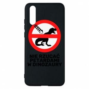 Etui na Huawei P20 Nie rzucać petardami w dinozaury