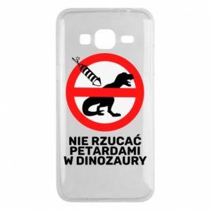 Etui na Samsung J3 2016 Nie rzucać petardami w dinozaury
