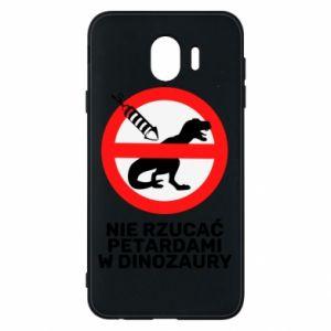 Etui na Samsung J4 Nie rzucać petardami w dinozaury