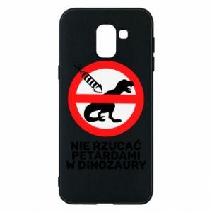 Etui na Samsung J6 Nie rzucać petardami w dinozaury