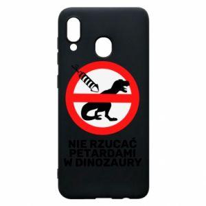 Etui na Samsung A20 Nie rzucać petardami w dinozaury