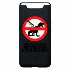 Etui na Samsung A80 Nie rzucać petardami w dinozaury