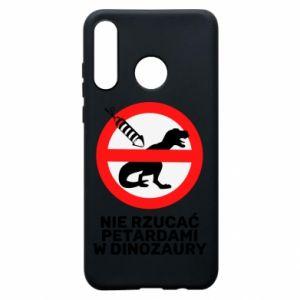 Etui na Huawei P30 Lite Nie rzucać petardami w dinozaury