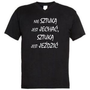 Men's V-neck t-shirt It is not an art to go... - PrintSalon