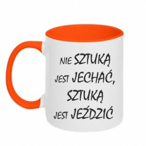 Two-toned mug It is not an art to go... - PrintSalon