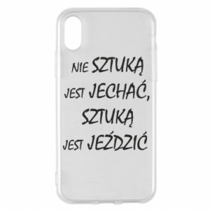 Phone case for iPhone X/Xs It is not an art to go... - PrintSalon