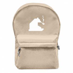 Plecak z przednią kieszenią Niedźwiedź z fajką