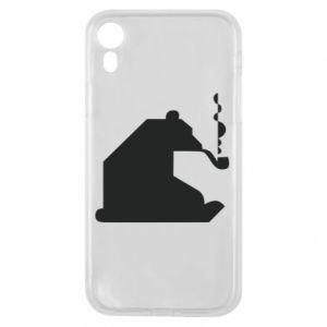 Etui na iPhone XR Niedźwiedź z fajką