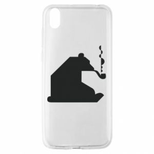 Etui na Huawei Y5 2019 Niedźwiedź z fajką