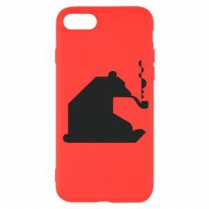 Etui na iPhone SE 2020 Niedźwiedź z fajką