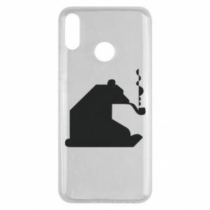 Etui na Huawei Y9 2019 Niedźwiedź z fajką
