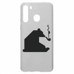 Etui na Samsung A21 Niedźwiedź z fajką