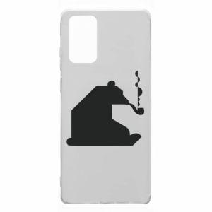 Etui na Samsung Note 20 Niedźwiedź z fajką