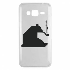 Etui na Samsung J3 2016 Niedźwiedź z fajką