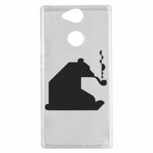 Etui na Sony Xperia XA2 Niedźwiedź z fajką