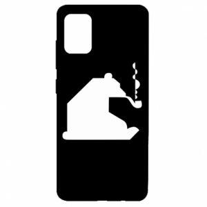 Etui na Samsung A51 Niedźwiedź z fajką