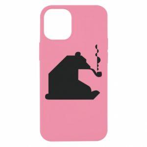 Etui na iPhone 12 Mini Niedźwiedź z fajką