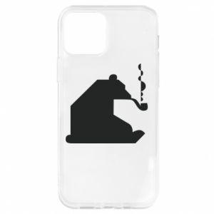 Etui na iPhone 12/12 Pro Niedźwiedź z fajką