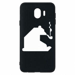 Etui na Samsung J4 Niedźwiedź z fajką