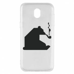 Etui na Samsung J5 2017 Niedźwiedź z fajką