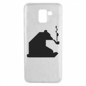 Etui na Samsung J6 Niedźwiedź z fajką